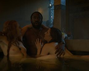 TV show scene Sarine Sofair nude Charlotte Hope - GAME OF THRONES (S04 E06)