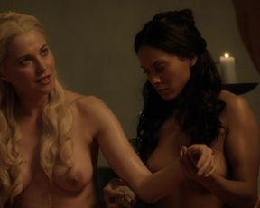 Actress Lucy Lawless, Lesley-Ann Brandt, etc - Spartacus Blood and Sand s01e06 (2010) Nudity and Sex in TV Show