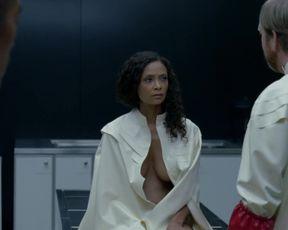 TV show scene Thandie Newton, Angela Sarafyan, Tessa Thompson, Evan Rachel Wood nude - Westworld S01E07 (2016)